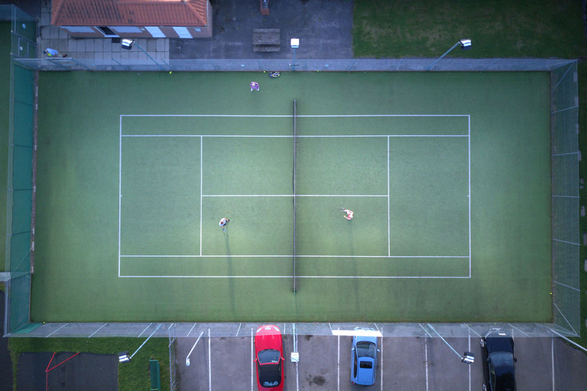 Bubwith Tennis Club from the air