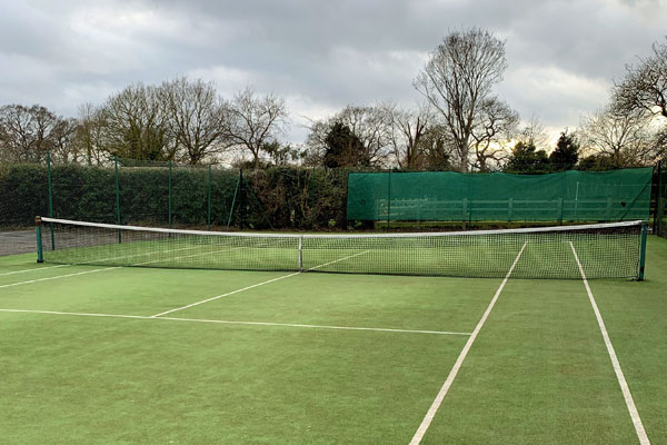 Tennis court at Bubwith after maintenance